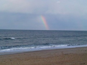 Rainbow at Southern Shores Beach